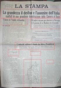WW2*LA GRANDEZZA IL DESTINO E L'AVVENIRE DELL'ITALIA*N.3220
