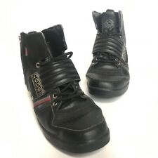 COOGI Australia -Size 11- Men's Black Red Silver Leather High Top Shoes Athletic