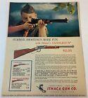 1963 Ithaca ad page ~ SUMMER SHOOTING'S MORE FUN - ITHACA SADDLEGUN Boy Scouts