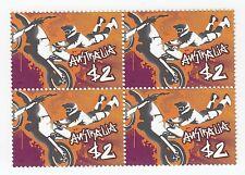 2006 AUSTRALIA STAMP BLOCK 'EXTREME SPORTS - FREESTYLE MOTOX' 4 X $2 MNH STAMPS