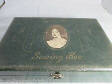 12pc mirrored NECESSAIRE  SEWING  ETUI box:Original ANTIQUE c1800's
