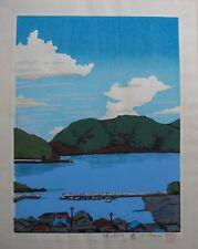 Japanese woodblock print Breeze - Mitsuhiro Unno - Inland Sea Limited Edition