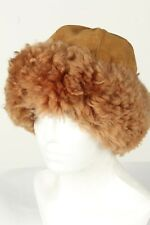 Vintage Unisex Russian Style Winter Hat Lined Suede Warm Retro Brown - HAT1508