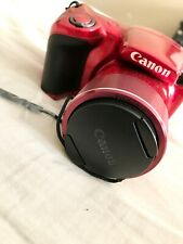 Canon PowerShot SX420 IS Digital Point  Shoot Camera, Red, Open Box, Never Used