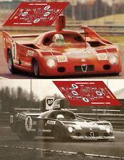 Decals Alfa Romeo T33 TT 12 Le Mans Test 1974 1:32 1:24 1:43 1:18 slot calcas