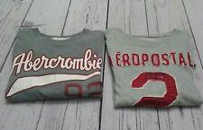 Abercrombie AeroPostale Men's Size M & S/P Crew Neck Graphic T-shirt Muscle Fit