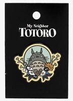 Studio Ghibli My Neighbor Totoro Soot Sprites Floral Metal Enamel Pin