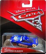 Disney Pixar Cars 3 Lightning Mcqueen Fabulous Lightning Mcqueen 1:55 Mattel HTF