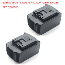 2 Stücke 4AH Li-ion Batterie Akku fü 18V Bosch BAT609 BAT618 GDS 18 V-LI GDR