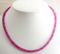Exklusive Saphir Kette edelsteinkette Facettiert Rosa Saphir Collier 47 cm 130kt