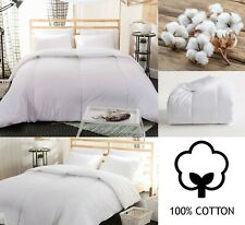 LUXURY 100% COTTON DUVET 4.5,10.5,13.5,15 TOG SINGLE DOUBLE SUPER KING QUILT