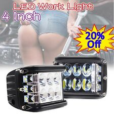 "4"" LED Work Light Floodlight Spotlight Roof Lamp Car Truck SUV UTV ATV 12V 24V 5"