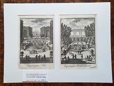 isiXVII ème - Dépt 92 - Belles Gravures du Jardin de Saint Cloud  PL 75 de 1670