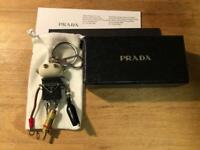 Prada Robot Keychain Bag Charm Keyring Key Holder Edward Black Defect w/Box