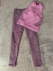 Under Armour Womens Leggings And Top Set In Purple Size Small