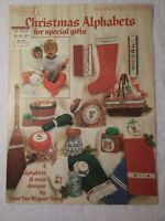 Christmas Alphabets for Special Gifts Leisure Arts Leaflet 260