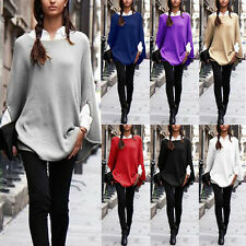 AU Seller Women Batwing Long Sleeve Blouse Loose Top Shirt Pullover Jumper Plus