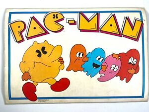 1980 PAC-MAN vintage 2-sided laminated PLACEMAT Bally Midway HOW TO SCORE POINTS