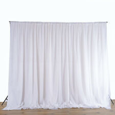 2.4M White Wedding Party Backdrop Curtain Drapes Background Decor Studio Draping
