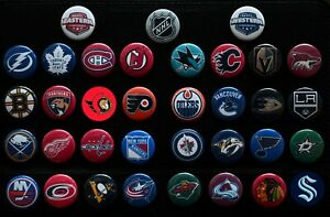NHL Team Past & Present - Individual 1 1/2 Inch Magnets - Choose From List