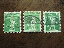Schweiz Mi.-Nr. 113, alle 3 Typen gest.
