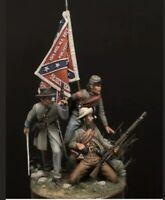 1:32 Confederate Soldiers Resin Model Kit Unassambled Unpainted