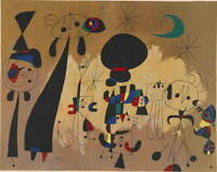 Joan Miro Femmes Lune Etoile Poster Reproduction Paintings Giclee Canvas Print