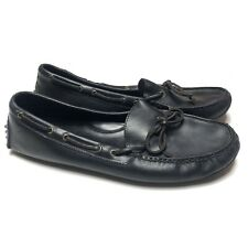 Cole Haan Gunnison Driver Moccasin Mens 12 Driving Shoes Black Leather Loafer