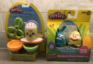 (2)Play-Doh Sets: Spring Bunny Chick Stampers NIP