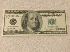 1996 Star Note $100.00 Bill..Low Number & free shipping