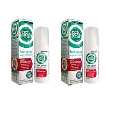 2x Peditech Actifresh Odour Control Foot Spray 100ml  Kills Bacteria