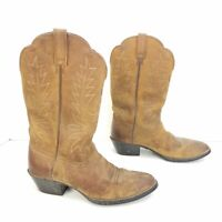 Ariat Heritage Brown Leather Cowboy Western Boots Womens Size 7.5 C Style 15725