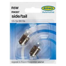 2 x Ring 207 R5W BA15S Sidelight Side Light Car Bulb RW207 12v 5w - E Approved
