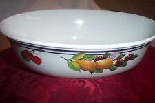 "Lenox China Fruit Groves Pattern Oval Vegetable Bowl 9 7 /8"""