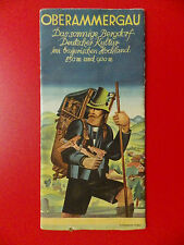 altes Reiseprospekt OBERAMMERGAU im bayerischen Hochland um 1935 ( 9756