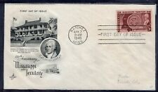 US FDC ArtCraft SC #955 MISSISSIPI TERRITORY NATCHEZ MISS.  APR. 7 9-AM  1948