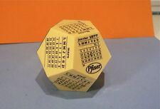 Calendrier 1977, Cube dodécagonal publicitaire Pfizer…