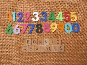 FELT x20 NUMBERS (x2 0-9) 3cm die cuts appliqués Kids Crafts Ages VARIOUS
