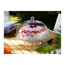 ❤ Vintage ❤ Shabby Chic ❤ Glass Cake cupcake  Stand ❤with large dome lid 30% Off