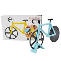 Bicycle Stainless Steel Blades Non-Stick Pizza Cutter Cutting Wheels Slicer Tool