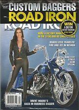 ROAD IRON CUSTOM BAGGERS MAGAZINE APRIL 2015 MOTORCYCLES - NEW - FREE SHIP!
