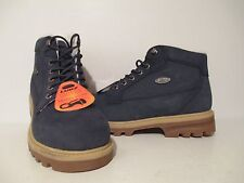 Lugz Mens Brigade Leather Fleece Casual Ankle Boots Navy/ Cream/ Gum Size 9