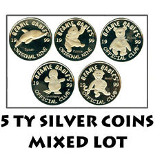 TY Beanie Baby Silver Coins - Mixed Lot of 5 Coins (All Different) - New