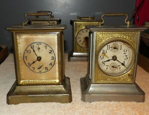 2 Antique German Musical Clocks w/ Key  - One is a FR Mauthe