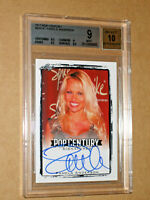 BGS 9 2017 POP CENTURY PAMELA ANDERSON SIGNED AUTO AUTOGRAPH SEXY PLAYBOY CARD