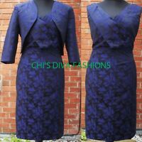 Floral Patterened Occasion Mother Of Bride Dress With Bolero Size UK 10-20