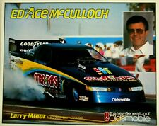 ED McCULLOCH NHRA OTTER POPS OLDSMOBILE  DRAG RACING F/C HANDOUT
