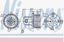 Nissens 87090 Motor del ventilador Citroen C4 04