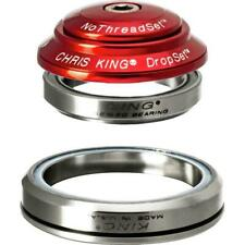 Chris King DropSet 3. Red. 41mm/52mm - 36/45 degree Integrated Headset (lightly