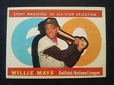 1960 Topps Willie Mays All-Star  #564, San Francisco Giants, SF, VG